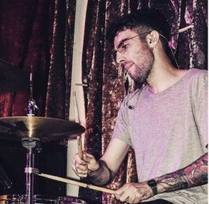 North London drum tutor Luca Romano playing live